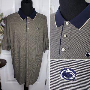 Cutter & Buck NWT Men's Striped Penn State Polo